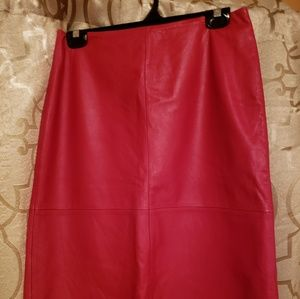 Hot Pink Leather Skirt GAP
